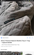 Weighted neptune blanket 7-11kg  Loganlea Logan Area Preview
