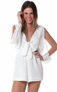 Show-Pony-Love-Triangle-playsuit-in-white-Brand-NEW