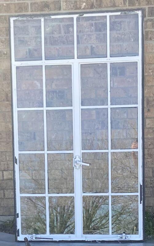 Reclaimed Salvaged Vintage Steel Framed Casement Glass Windows 20 Pane