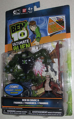 "BEN10 Ultimate Alien 4"" Humungousaur & Aggregor Cartoon Network New 2010 + Comic for sale  Shipping to India"