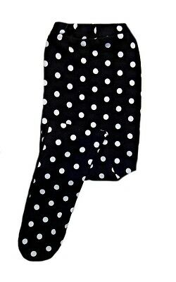 Baby Girls Black and White Polka Dot Knit Tights - Preemie, Newborn, Toddlers