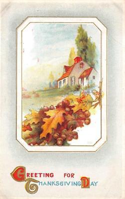 THANKSGIVING HOLIDAY RURAL SCENE EMBOSSED POSTCARD (c. 1910) 125 (Thanksgiving Scenes)