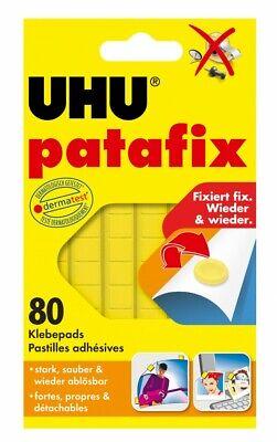 UHU patafix gelb 80 Pads Poster, Fotos oder Dekorationen Wieder verwendbar