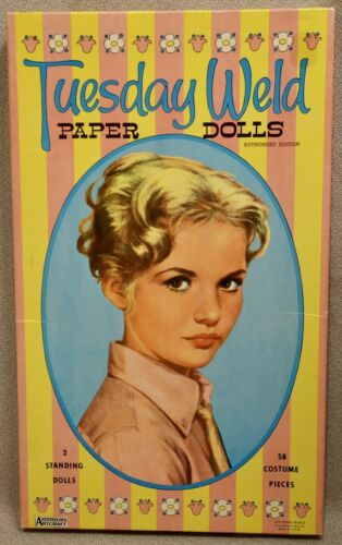1960 TUESDAY WELD Paper Doll Set - SAALFIELD #5112 - RARE UNCUT ORIGINAL