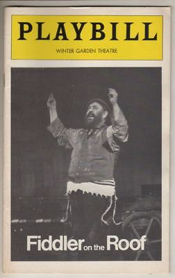 "Zero Mostel   ""Fiddler On The Roof""   Playbill   1977   Broadway   Revival"