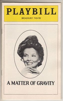 "Katharine Hepburn Playbill ""A Matter of Gravity"" 1976 Christopher Reeve"
