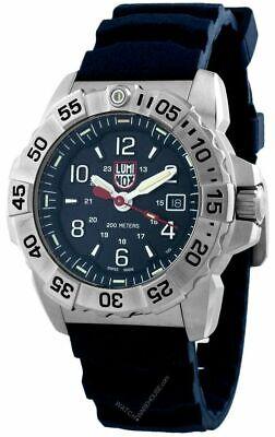 LUMINOX Navy Seal 45MM SS Blue Dial Rubber Strap Men's Watch XS.3253