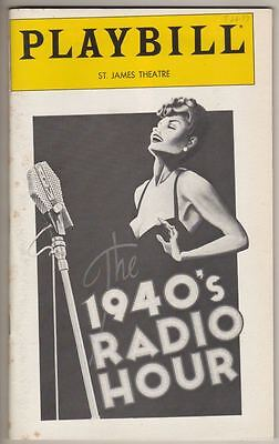 """The 1940's Radio Hour""   Playbill 1979  Dee Dee Bridgewater  PREVIEW"