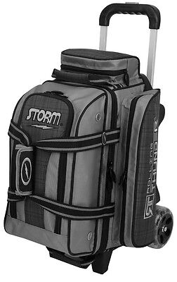 Storm Rolling Thunder 2 Ball Double Roller Bowling Bag Plaid Grey Black