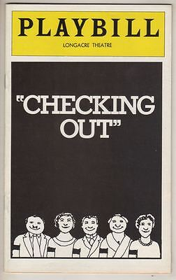 """Checking Out""  FLOP Playbill  1976  Joan Copeland, Allen Swift, Mason Adams"