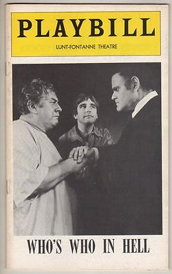 """Who's Who In Hell""  FLOP  Playbill  Beau Bridges 1974  OPENING NIGHT"