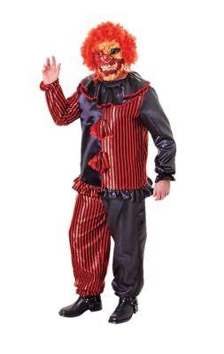 Zombie Clown Déguisement avec Masque Halloween Hommes - Costume Halloween Homme Zombie