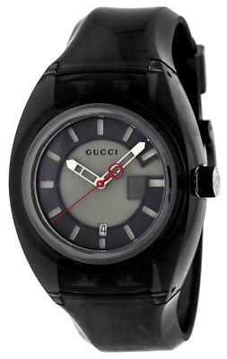 Gucci Sync XXL 44mm Quartz Grey Dial Rubber Strap Men's Watch YA137111