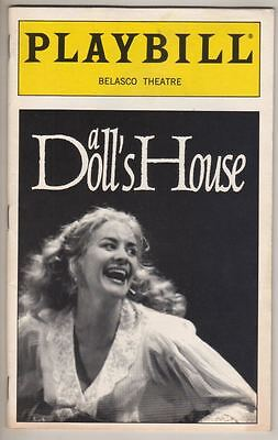 """Janet McTeer & Owen Teale  """"A Doll's House""""  Playbill  1997  Ibsen"""