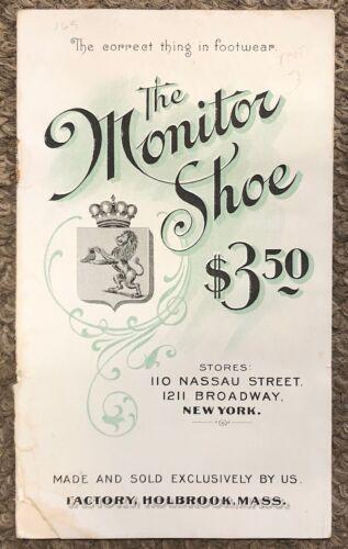 Vintage c1910 The Monitor Shoe, Illustrated Catalog