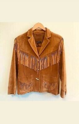 New Native American Men's Golden Buffalo Suede Leather Fringes Hippy Jacket Hj10 Suede Leather Buffalo