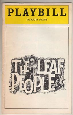 "Playbill   ""The Leaf People""   FLOP   1975    Tom O'Horgan"
