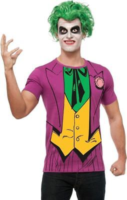 The Joker X-Large T-Shirt and Wig Adult DC Comics Rubie's Costume Company New - The Joker Adult Costume