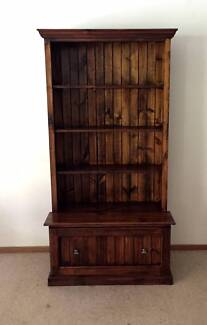 PINE BOOKCASE AND STORAGE CHEST