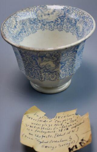 "Antique Caughley Porcelain Underglaze Blue ""Willow"" Bowl, Circa 1800-1835"