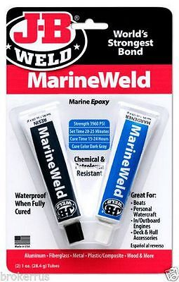 Jb Weld 8272 Marine Weld Epoxy Cures Strong As Steel Water Weather Proof New