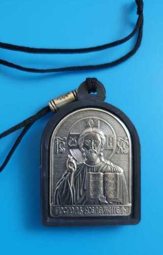 Orthodox icon pendant for a car Jesus Christ and Saint Nicholas the Wonderworker