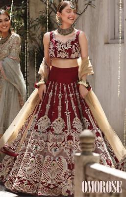 Lehenga Bollywood Moda Boda India Oro Trabajo Lengha Choli Boda Ropa