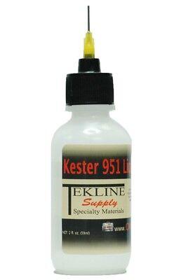 Kester 951 Rosin Soldering Flux Bottle By Tekline 2oz No-clean Lead-free
