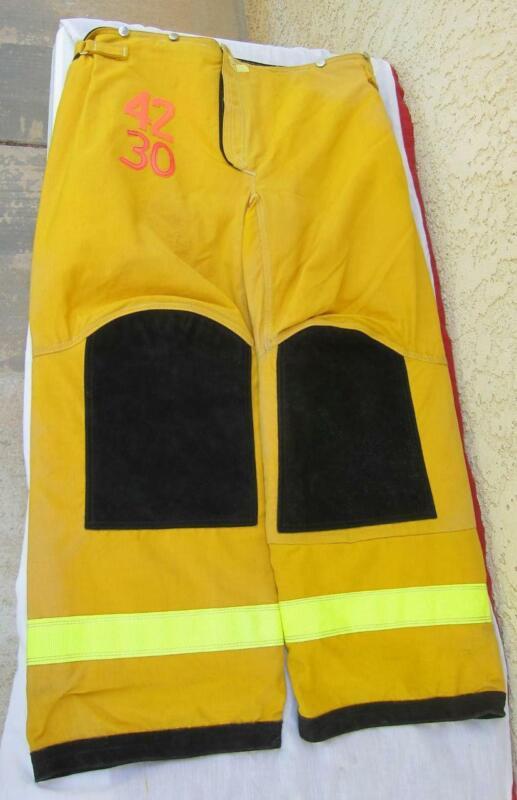 Lion Janesville Firefighter Fireman Turnout Gear Pants Size 42x30 - [D] (J1)