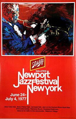 Louis Armstrong Satchmo Original LeRoy Neiman Litho NewPort Jazz Concert 1977