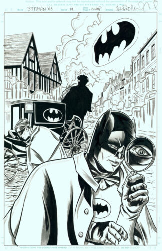 Mike Allred Signed Original Comic Cover Art Batman
