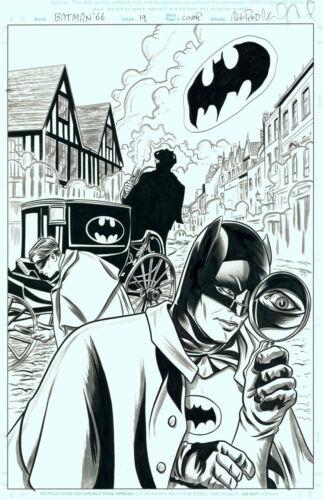 Mike Allred Signed Original Comic Cover Art Batman