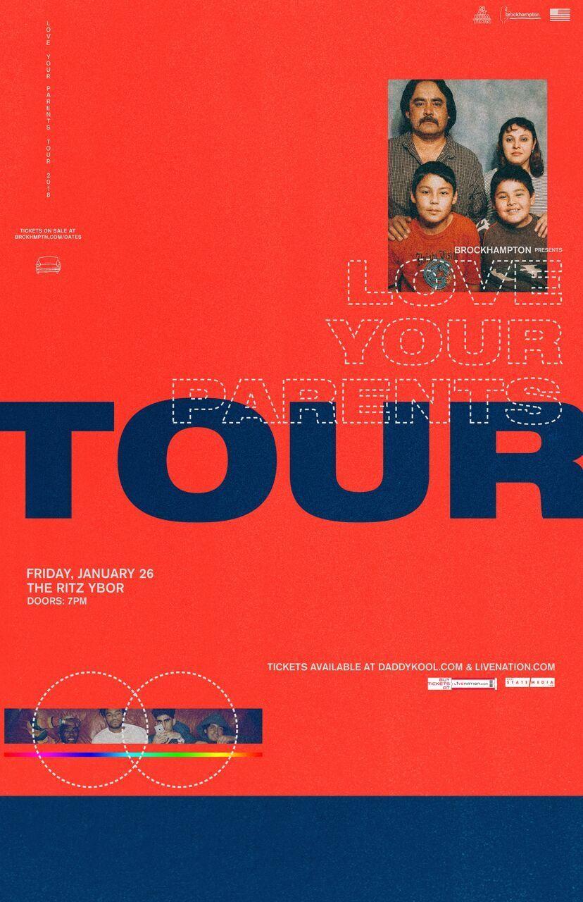 BROCKHAMPTON: Love Your Parents Tour [Concert Poster] 11 x 17 # 10/19 | eBay
