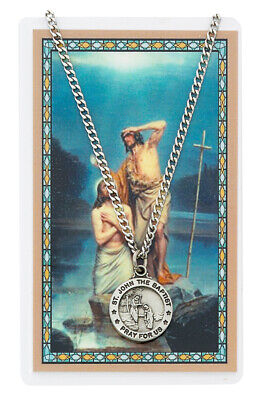 St. John the Baptist Necklace with Laminated Prayer Card