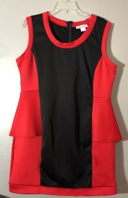 Woman's Dress INSEPARABLE Dress Size XL One Piece Red Black Short (Skirt One Piece Dress)
