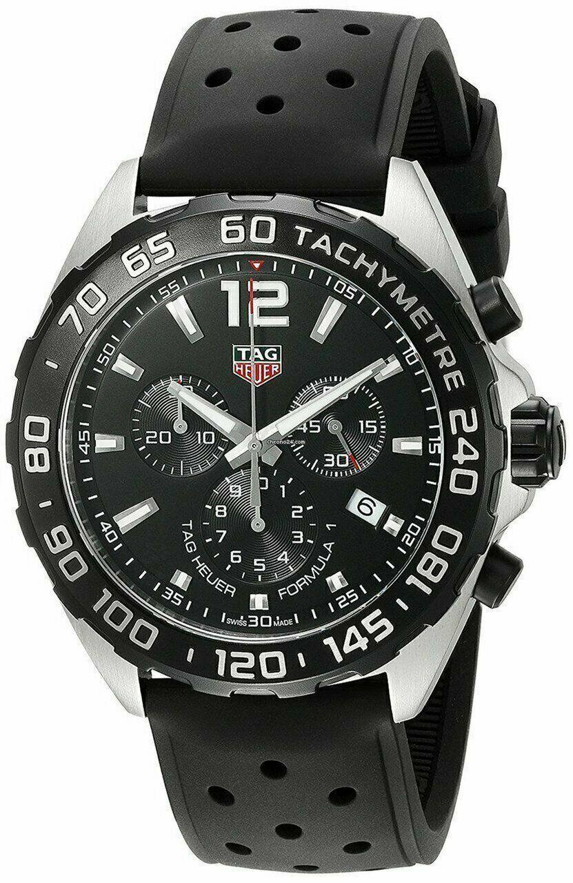 New Tag Heuer Formula 1 One Chrono CAZ1010FT8024 Black Strap Mens 43mm Watch