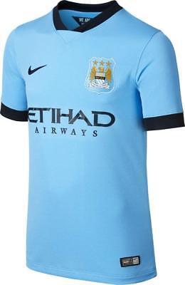 nwt~Nike MANCHESTER CITY STADIUM REPLICA Soccer football shirt Jersey~YOUTH sz S