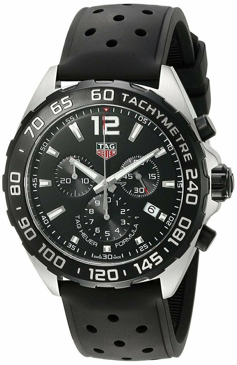 Tag Heuer Formula 1 One Quartz Chronograph Black Men's Watch CAZ1010.FT8024