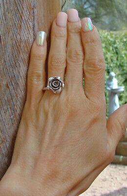 - Karen Hill Tribe Floral Rose Ring Size 7 Sterling Silver