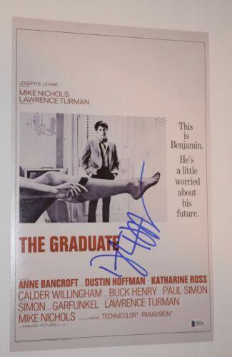 Dustin Hoffman Signed Autograph 11x17 Movie Poster THE GRADUATE Beckett BAS COA