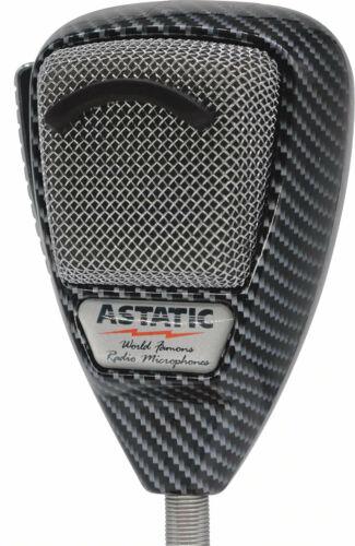 ASTATIC 636L-CF Carbon Fiber Finish CB Ham Radio Microphone 4pin mic Auth Dealer