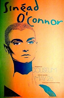 SINEAD O'CONNOR1990 - Poster by  JAGMO - OriginaL AUSTIN - A BEAUTY SINEAD O'CON