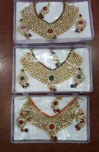 Indian Pakistani ladies artificial jewellery eid collection set