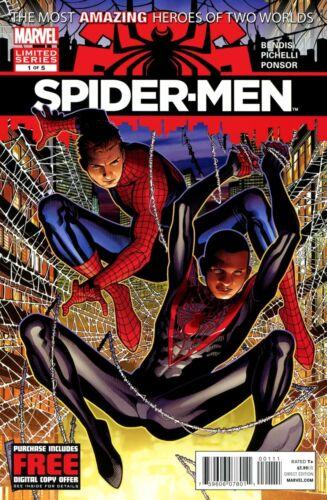 Spider-Men #1 (1st Print Regular Cover) Marvel 2012 Limited Series