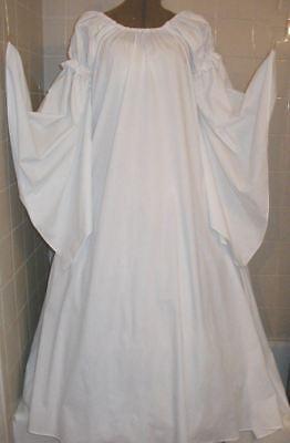 Renaissance Fantasy Costumes (RENAISSANCE FANTASY PURE WHITE CHEMISE PUFF SHOULDER & LONG SLEEVE COSTUME)