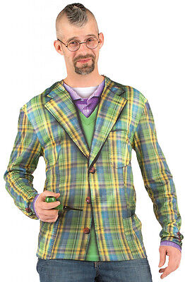FAUX REAL Plaid Blazer COSTUME TEE Suit TSHIRT Halloween COSPLAY St Patricks Day