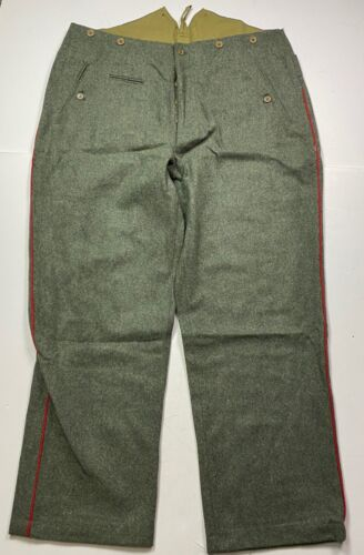 WWI GERMAN ARMY M1907 WOOL COMBAT FIELD TROUSERS- LARGE 36 WAIST