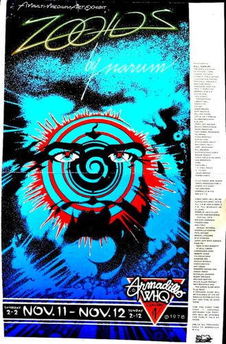 ZOOIDS POSTER1978 ARMADILLO WORLD HDQ. BY Bill Narum-POSTER Original Austin RARE