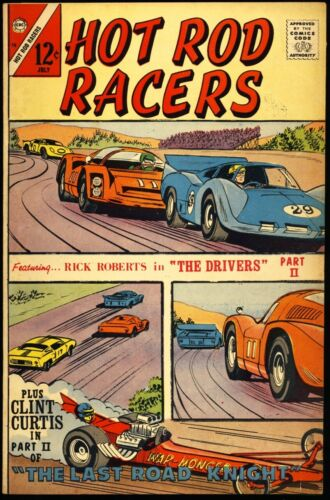 "HOT ROD RACERS #15 1967 FN/VF ""The Last Road Knight"" CHARLTON COMICS"
