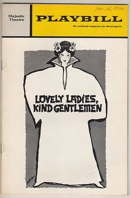 """Lovely Ladies, Kind Gentlemen""  Playbill  FLOP  Broadway  1970  PREVIEW"